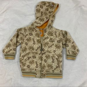 🔥3/$15 Enyce Toddler Boy Full Zip Jacket Tan Gold